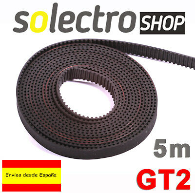 5m CORREA GT2 6mm BELT IMPRESORA 3D PRINTER REPRAP Pitch 2mm I0006