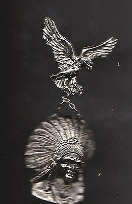 Native American Indian Pin Medal  Heavy  1989 Cheyenne High Plains Wyoming 1089