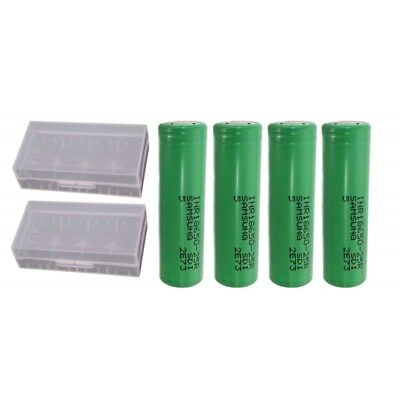 Samsung INR18650-25R 2500 mAh 3.6 V Rechargeable Battery (Pack of 4) + Case