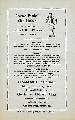 Chester v Crewe (4 page Friendly) 1964