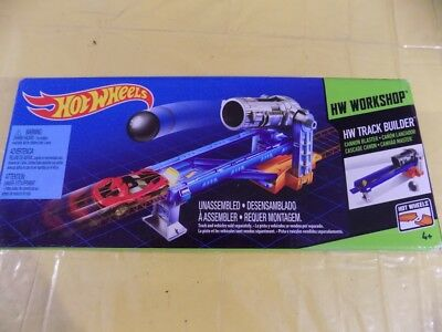 New Hot Wheels Track Builder Cannon Blaster