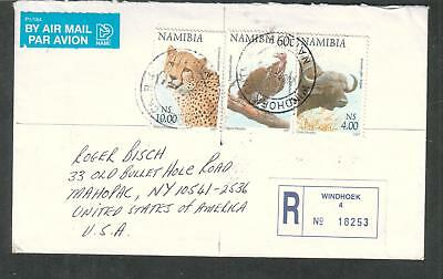 Namibia 2006 air mail registered cover Windhork 4 to USA
