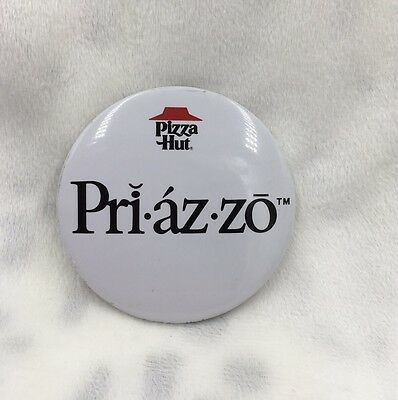 Vintage Pizza Hut Restaurant Novelty Advertising Button Pinback