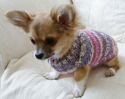 "6"" Hand Knitted Fairisle Design Chihuahua /Small Dog/Puppy/Jumper/Coat"