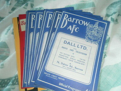 BARROW HOME AND AWAY PROGRAMMES FROM THE 1960s