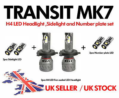 Ford Transit Mk7 H4 Philips LUMILED Ultra bright 6000lm LED Headlight upgrade