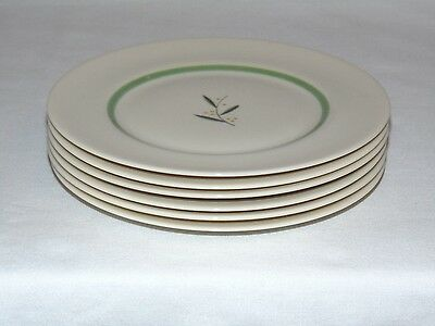 VINTAGE CALIFORNIA POTTERY FRANCISCAN CHINA 6 pcs SET DESSERT SIDE PLATES