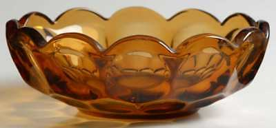 Imperial Glass Ohio PROVINCIAL AMBER Nappy 8421354
