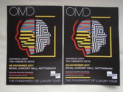OMD Live in Concert The Punishment of Luxury Tour UK 2017 Promo tour flyers x 2