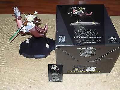 Gentle Giant, Star Wars Yoda On Kybuck Maquette, #2,190 Of 3,500 With Cert & Box