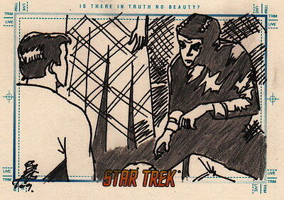 Star Trek Tos Portfolio Prints Sketch Card Is There In Truth No Beauty Brian