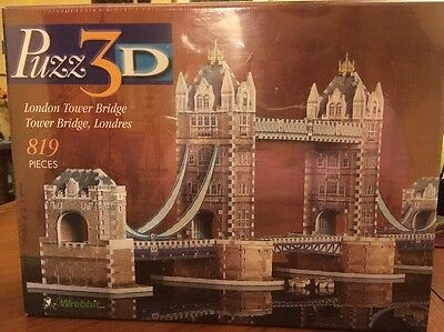 WREBBIT PUZZ 3D LONDON TOWER BRIDGE 819 Pieces Difficult