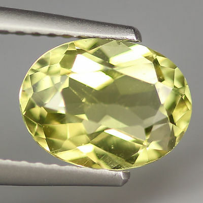 NATURAL UNHEATED RARE YELLOW APATITE OVAL 1.90 Ct GEMSTONE