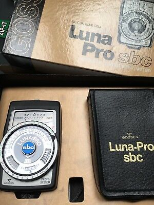 Gossen Luna Pro SBC Light Meter, With Box and in Excellent condition!