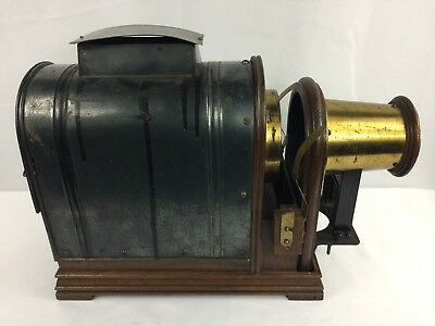 Rare Antique Magic Lantern Projector Brass With Lens - Beautiful Collector Piece