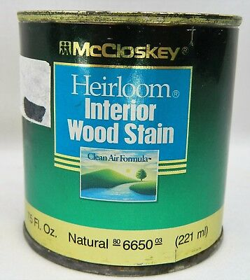 Natural Clear Finish 6650 McClaskey Heirloom Interior Wood Stain 1/2 Pint Can