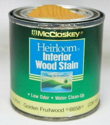 Golden Fruitwood Brown 6658 McCloskey Heirloom Interior Wood Stain 1/2 Pint Can