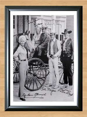 The Big Valley Cast Signed Autographed A4 Photo Print Poster TV Memorabilia dvd
