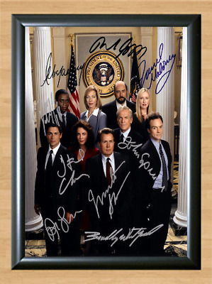 The West Wing Cast Signed Autographed A4 Photo Print Poster TV Memorabilia dvd