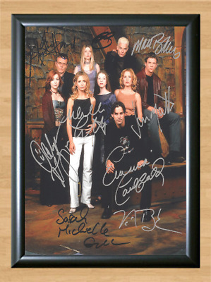 Buffy the Vampire Slayer Cast Signed Autographed A4 Photo Poster TV Memorabilia