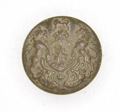 WWI United Kingdom Royal Coat Arms Military Uniform Button (17 mm)