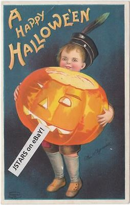 1909 A Happy Halloween, Clapsaddle Signed Postcard