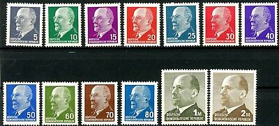 Germany DDR 1961 Ulbricht Issues Complete Set 13 MNH Scott's 582 to 590c