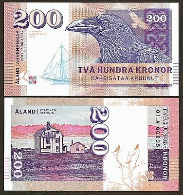 Finland/Aland Island : Private Issued Banknote with 1st class Security Features.