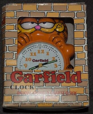 Garfield Official Nelsonic Quartz Alarm Clock - 1978, boxed