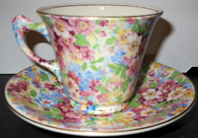 """Vintage James Kent """"Apple Blossom"""" Chintz Cup and Saucer, UK"""