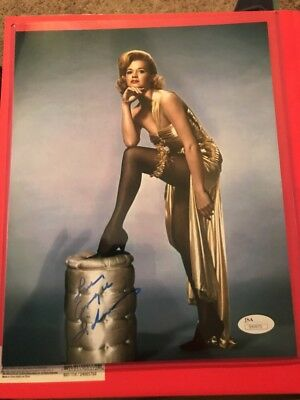 ANGIE DICKINSON 8x10 COLOR PHOTO SIGNED AUTOGRAPH JSA CERT SEXY MOVIE STAR