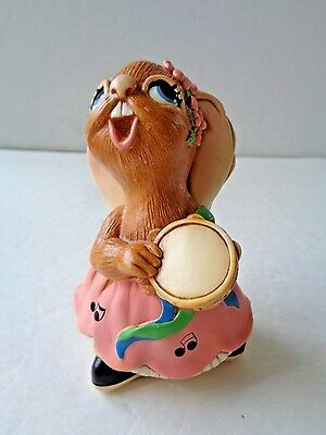 Vintage Pendelfin Rosa Rabbit, Made In England ~ Hand Painted ~ Nwob Free Us S/h
