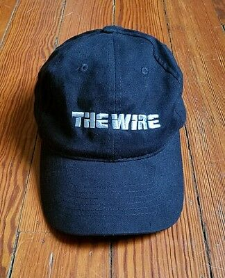 Rare Official The Wire Hbo Promo Hat - Idris Elba Dominic West Tv Series
