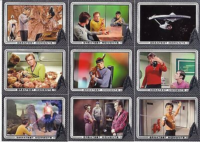 STAR TREK 50th Anniversary COMPLETE 100 CARD FOIL ETCHED GREATEST MOMENTS SET