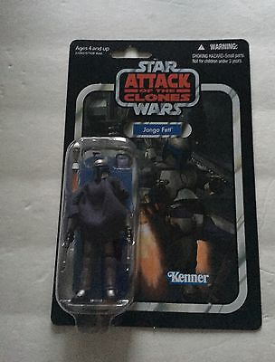 Star Wars Attack Of The Clones Jango Fett Action Figure Kenner Hasbro Sealed