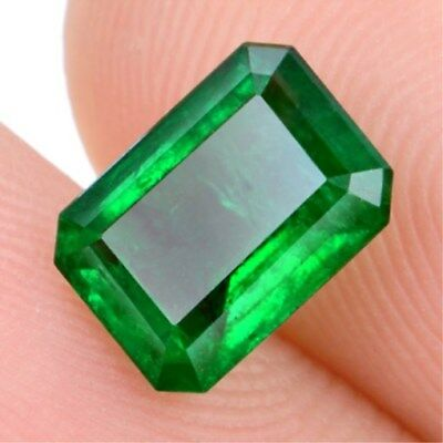 2.886ct VS Natural Colombia Emerald 8x10mm Emerald Shape Loose Gemstone