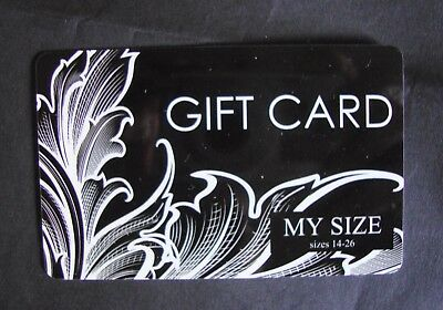 MY SIZE Gift Card $200 ~ Expires 24/12/17