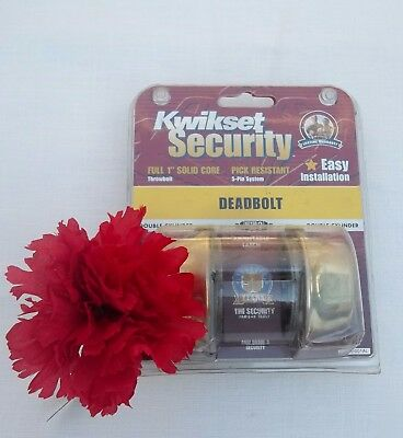 Kwikset Security Double Cylinder Polished Brass Deadbolt ANSI Grade 3 New