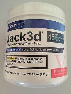 Usp Labs Jack3D 45 Srv Ultra Concentrated  Jacked No Micro Free Express Shipping