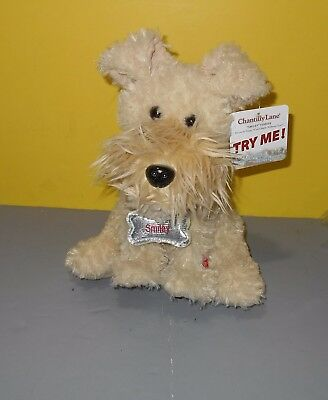 "New Chantilly Lane 12"" Animated Smiley the Terrier Sings Can't Smile Without You"