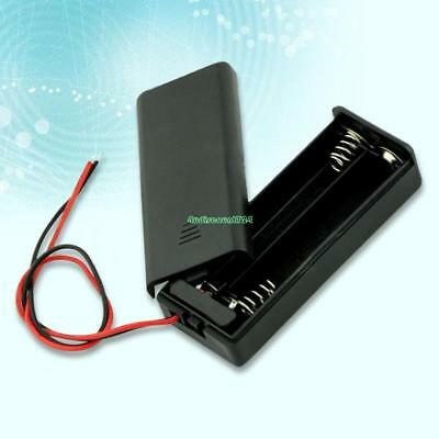 Black 2 AAA Battery Holder Box Case With Switch EE4072 4681470