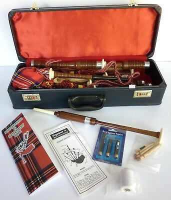 Bagpipe Kit in various Tartans supplied with Hard Case, Practice Chanter, Reeds