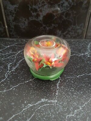 Retro/vintage hong kong kitsch flowers candle holder