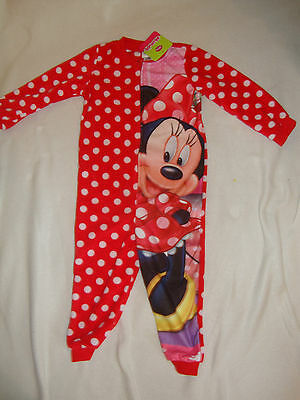 DISNEY MINNIE MOUSE  1 piece soft FLEECE ROMPER  toddler sizes  NWTS