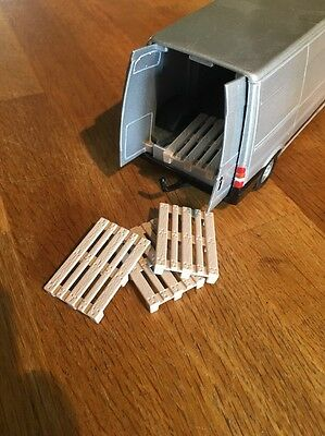 4 X Model Pallets Would Suit Britains Farm Toys Etc 1/50 1/32 Etc