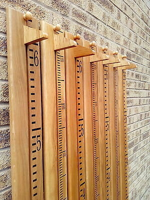 Handmade Wooden Growth / Height Chart. Solid Oak, Ideal Christening / Baby Gift