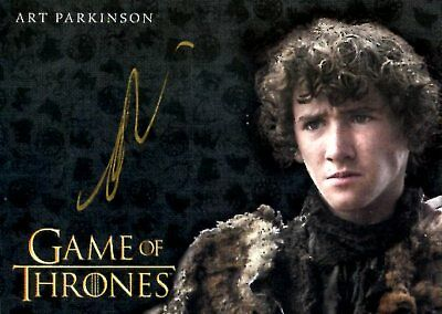 Game Of Thrones Valyrian Steel GOLD AUTOGRAPH card ART PARKINSON as RICKON STARK