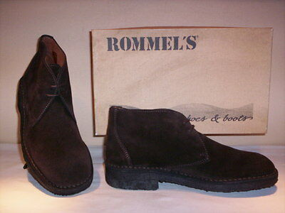 shoes high boots desert boots Rommel's man shoes casual leather suede 43