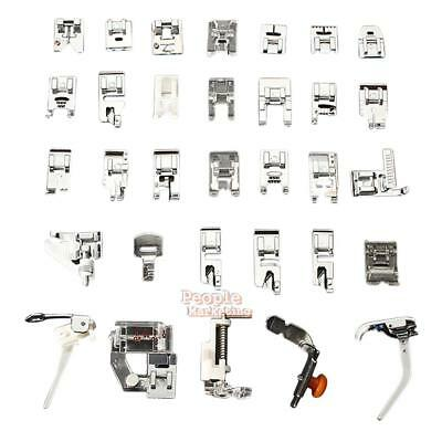 P4PM 32 PCS Domestic Sewing Machine Foot Feet Snap On For Brother Singer Set