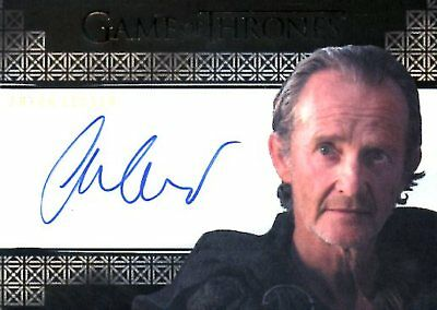 Game Of Thrones Valyrian Steel VALYRIAN AUTOGRAPH card ANTON LESSER as QYBURN